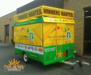 NJ Lottery brands with Concession trailer wraps