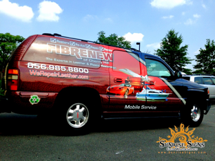 Fibrenew franchise partial vehicle wraps NJ