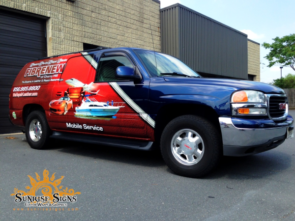 Franchise vehicle wraps NJ