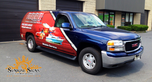 Fibrenew franchise vehicle wraps