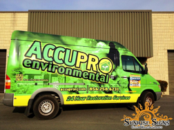 Contractor van and truck wraps