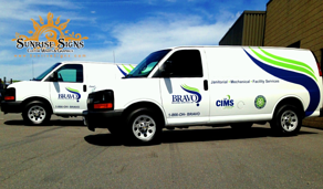 Contractor vehicle spot graphics