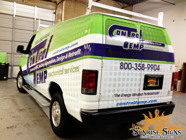 HVAC truck lettering van wraps and advertising
