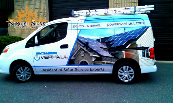 Contractor fleet vehicle wraps NJ