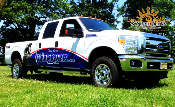 Partial Ford F150 Truck Wraps for Contractors