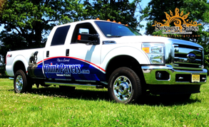 Contractor fleet truck partial wraps NJ