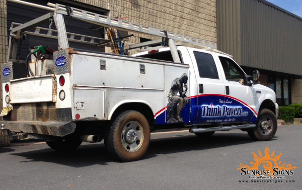 Utility Truck Graphics Sunrise Signs