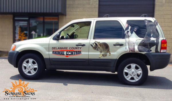 Delaware County Fleet vehicle graphics Sunrise Signs