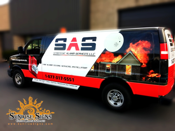 Fire alarm company van wraps NJ