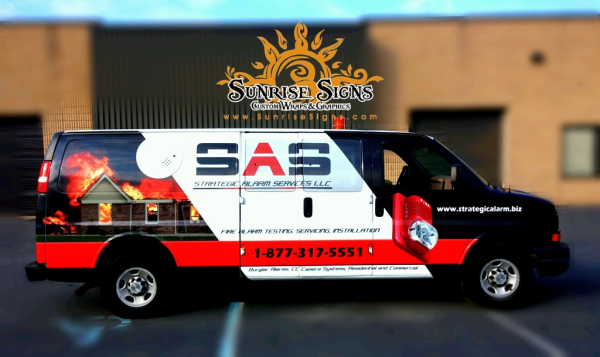 Contractor Chevy Express van wraps NJ