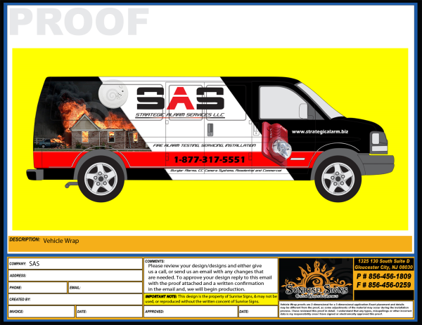Chevy express van wrap design proofs