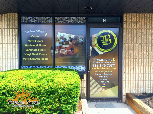 Showroom window graphics NJ