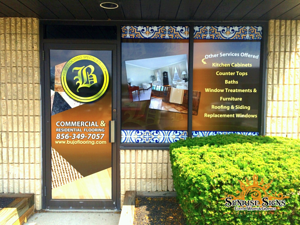 Strip mall vinyl window graphics New Jersey