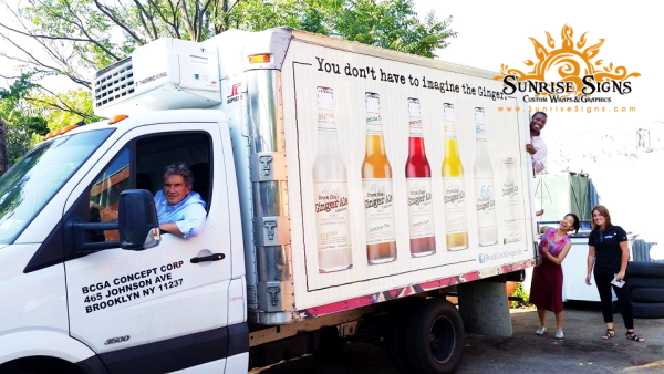 Beverage delivery box truck wraps Brooklyn