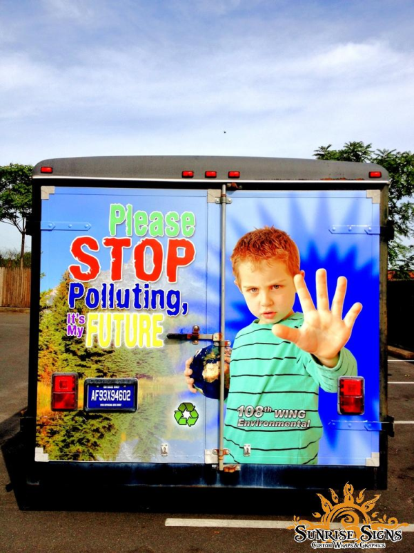 Air National Guard Save our planet trailer wraps