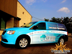 AquaHab Fitness Center Dodge Grand Caravan Van Wraps