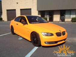 Custom BMW 325i orange matte car wraps