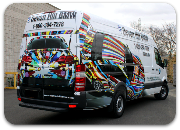dealership van wrap