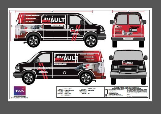 Chevy Van wraps for a franchise
