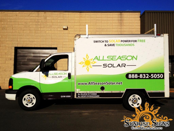Atlantic County NJ contractor box truck wraps