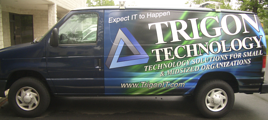 Trigon Technology Ford E250 commerical van wraps