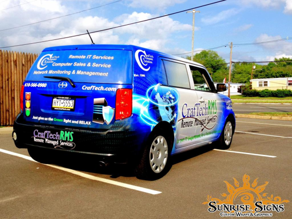 Fleet vehicle wraps Pennsylvania Media PA