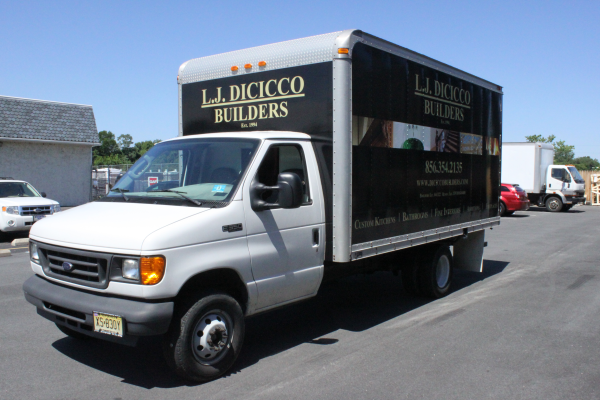 LJ DiCicco Builders Ford E-350 with Box Truck Wrap