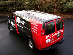 DocuVault Chevy Van Wraps in Gloucester County
