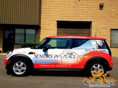 Seniors In Place Mini Cooper car wraps