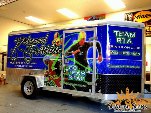 Enclosed trailer wraps