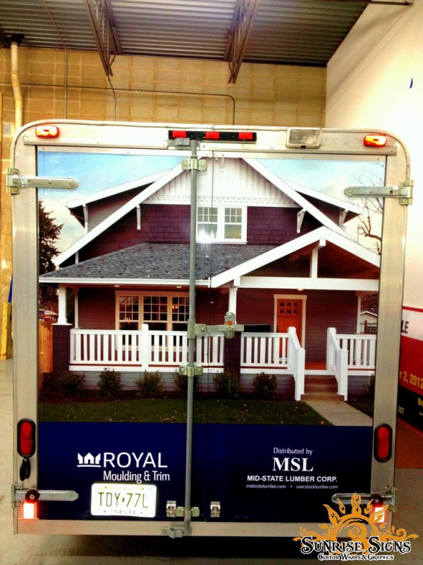 Mid State Lumber Shows Off With Enclosed Trailer Wraps In