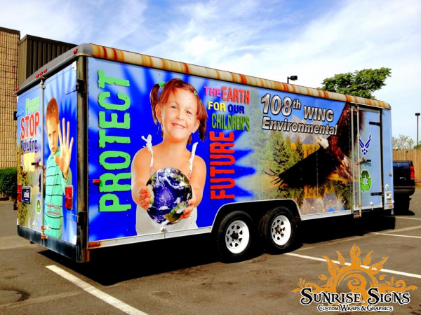Environmental Trailer Wraps Advertising