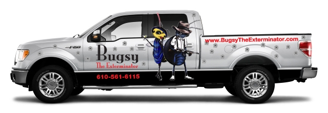 pest control exterminator vehicle wrap graphics