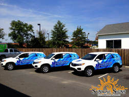 Franchise branding with vehicle wraps and graphics