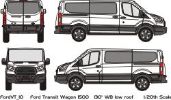 Ford Transit Vehicle Wrap Templates