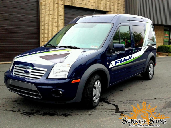 Advanced Sports Ford Transit Connect Partial Van Wraps