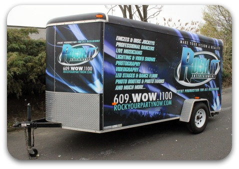 full matte trailer wrap