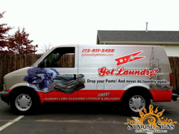 Franchise delivery vehicle wraps