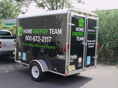 Home Energy Team Trailer Graphics and Lettering
