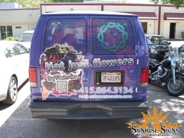 Florist and Flower Delivery Van Wraps