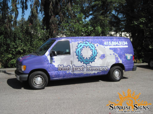Nationwide delivery or shuttle van wraps advertising