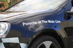 Porsche of the Main Line auto dealership franchise wraps