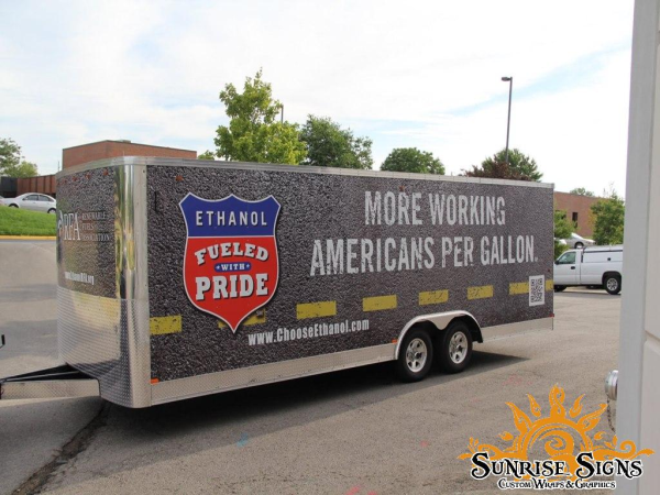 Trailer truck graphic and wraps advertising