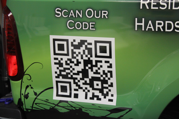 QR Codes on auto wraps and vehicle templates