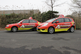 Advantage Driving School fleet vehicle wraps
