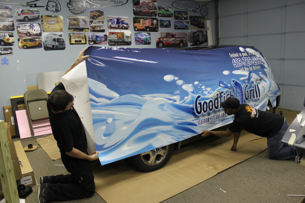 PT Cruiser Car Wraps Installation