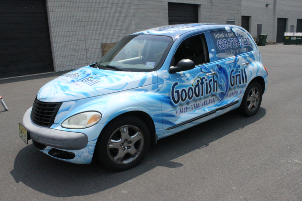 Goodfish Grill advertises with car wraps