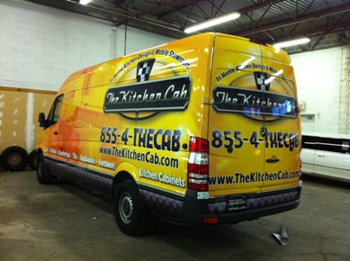 Nationwide contractor van wraps advertising