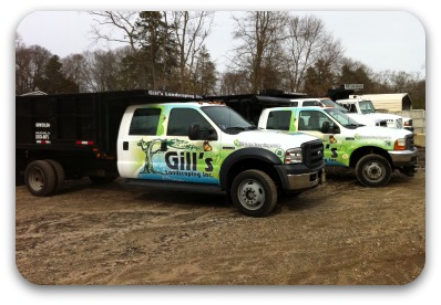 Landscaping and lawn maintenance wraps and graphics for Garden maintenance van