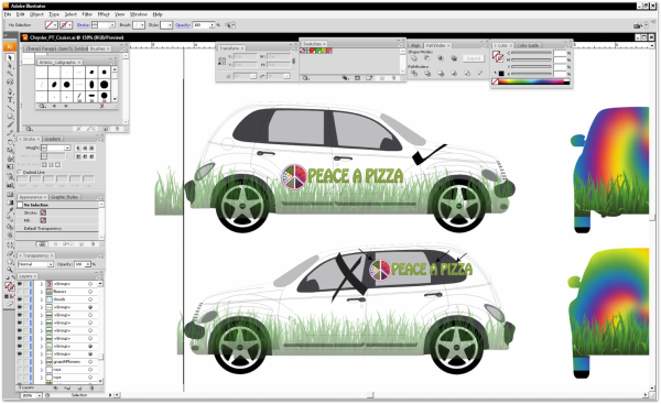 vehicle wrap design layout